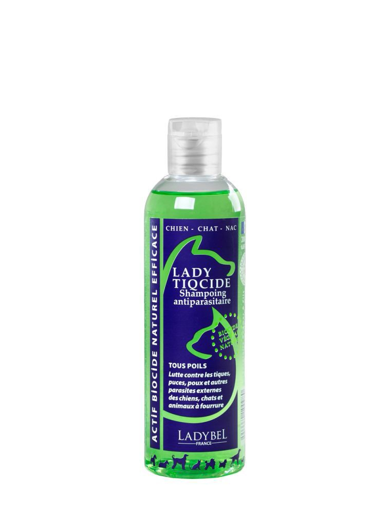 Ladybel - Lady Tiqcide 1 litre - Shampooing antiparasitaire actif