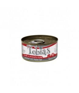 Tobias Dog - Poulet et jambon de poulet - Boîte de 85 g