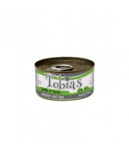 Tobias Dog - Poulet et thon - Boîte de 85 g