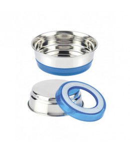 Gamelle inox - 200 ml - Fluo bleu