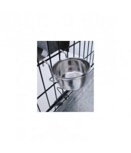 Gamelle pour cage d'exposition avec support (crochets) - 600 ml