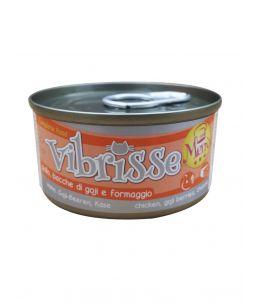 Vibrisse Cat Menu - Poulet, baie de goji et fromage - Boîte de 70 g