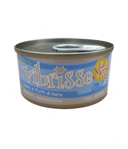 Vibrisse Cat Menu - Thon et fruits de mer - Boîte de 70 g