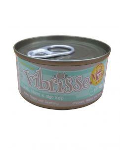 Vibrisse Cat Menu - Poulet, tilapia et algues - Boîte de 70 g