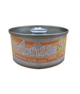 Vibrisse Cat Menu - Poulet, jambon de poulet et citrouille - Boîte de 70 g