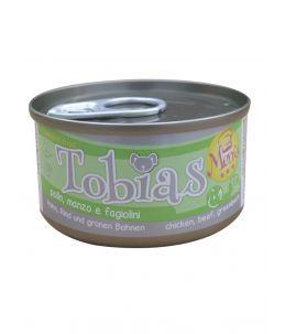 Tobias Dog Menu - Poulet, boeuf et haricots verts - Boîte de 85 g