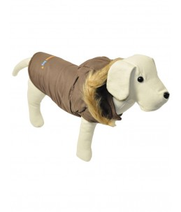 Manteau, brun Fashion Dog, avec capuchon - 35 cm