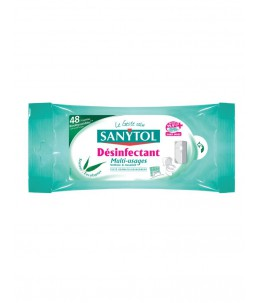 Sanytol - Lingettes multi-usages désinfectantes - 1 paquet
