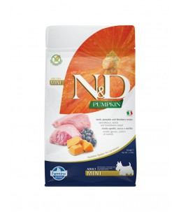 Farmina N&D Pumpkin - Canine Adutl Mini Agneau, Potiron & Myrtille - Sac 800 g