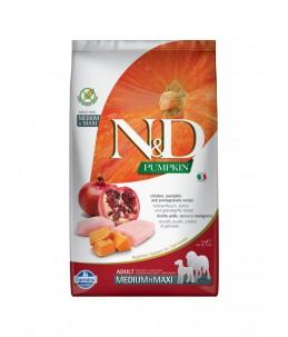 Farmina N&D Pumpkin - Canine Adult Medium/Maxi Poulet, Potiron & Grenade - Sac 2.5 kg