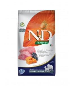 Farmina N&D Pumpkin - Canine Adult Medium/Maxi Agneau, Potiron & Myrtille - Sac 2.5 kg