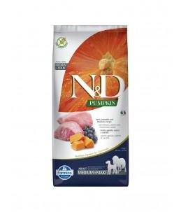 Farmina N&D Pumpkin - Canine Adult Medium/Maxi Agneau, Potiron & Myrtille - Sac 12 kg