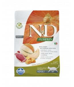 Farmina N&D Pumpkin - Feline Adult Canard, Potiron & Melon - Sac 300 g