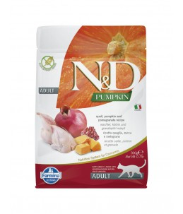 Farmina N&D Pumpkin - Feline Adult Caille, Potiron & Grenade - Sac 300 g