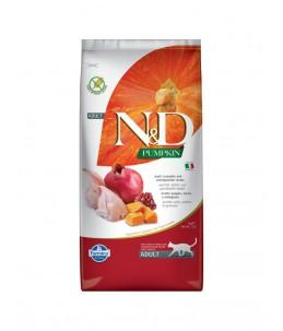 Farmina N&D Pumpkin - Feline Adult Caille, Potiron & Grenade - Sac 5 kg
