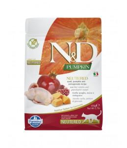 Farmina N&D Pumpkin - Feline Adult Neutered Caille, Potiron & Grenade - Sac 300 g