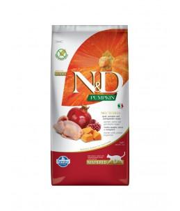 Farmina N&D Pumpkin - Feline Adult Neutered Caille, Potiron & Grenade - Sac 5 kg