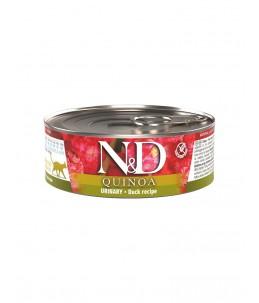 Farmina N&D Quinoa - Feline Adult Urinary Canard & Canneberge - Boîte 80 g