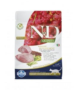Farmina N&D Quinoa - Feline Weight Management Agneau & Brocoli - Sac 300 g