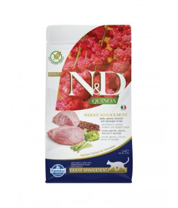 Farmina N&D Quinoa - Feline Weight Management Agneau & Brocoli - Sac 1.5 kg