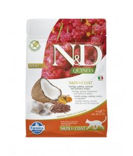 Farmina N&D Quinoa - Feline Skin & Coat Hareng & Noix de coco - Sac 300 g