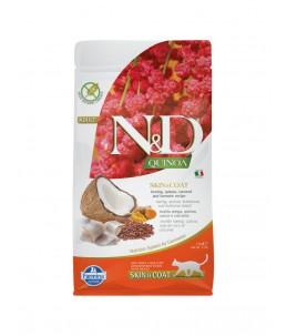 Farmina N&D Quinoa - Feline Skin & Coat Hareng & Noix de coco - Sac 1.5 kg