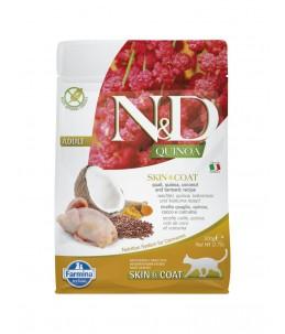 Farmina N&D Quinoa - Feline Skin & Coat Caille & Noix de coco - Sac 300 g