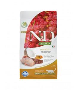 Farmina N&D Quinoa - Feline Skin & Coat Caille & Noix de coco - Sac 1.5 kg