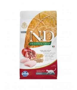 Farmina N&D Ancestral Grain - Feline Adult Poulet, Epeautre, Avoine & Grenade - Sac 1.5 kg