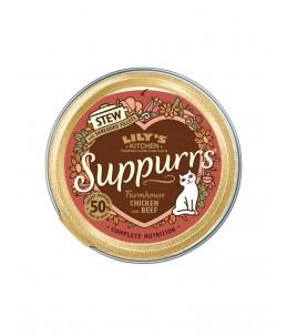 Lily's Kitchen - Feline Adult Suppurrs Farmhouse Chicken & Beef - Boîte 85 g