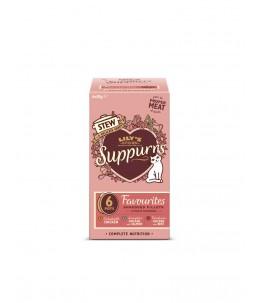 Lily's Kitchen - Feline Adult Suppurrs Favourites Multipack - Boîte 6x85 g