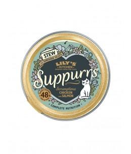 Lily's Kitchen - Feline Adult Suppurrs Scrumptious Chicken & Salmon - Boîte 85 g