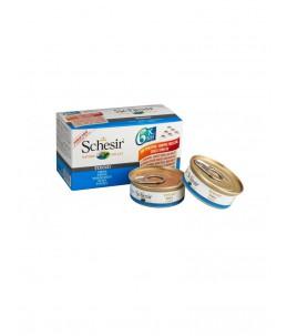Schesir Cat (Eau de cuisson) - Thon - Multipack - Boîtes 6 x 50 g