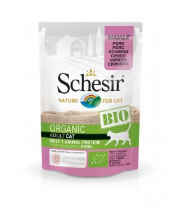 Schesir Cat (Bio Humide) - Saveur porc - Sachet 85 g
