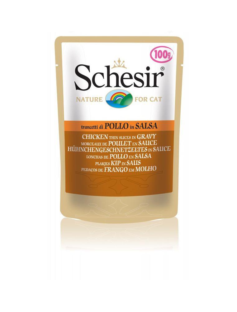 Schesir Cat (Sauce naturelle) - Poulet en sauce - Sachet 100 g