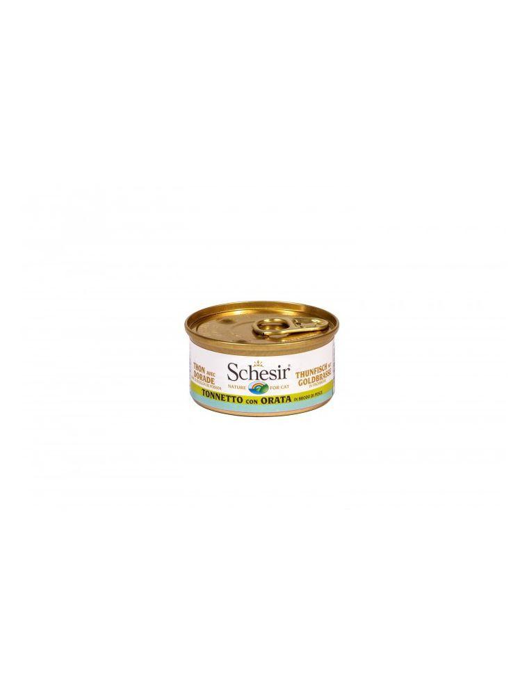 Schesir Cat (Bouillon) - Thon avec daurade rose - Boîte 70 g