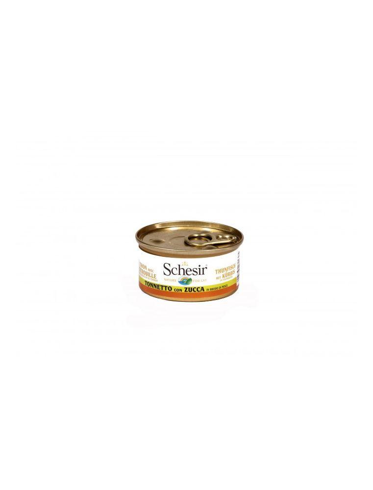 Schesir Cat (Bouillon) - Thon avec citrouille - Boîte 70 g