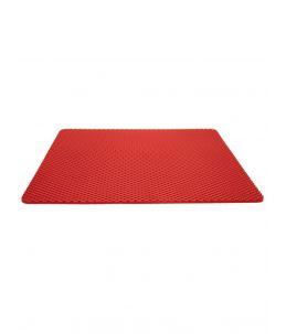 Tapis pour bac à litière rouge, 65 x 80 cm