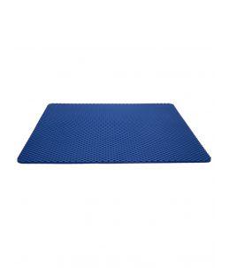 Tapis pour bac à litière bleu, 65 x 80 cm