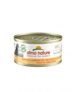 Almo Nature HFC - Thon et crevettes - Boîte de 70g