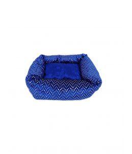 Couffin rectangulaire - bleu - avec brillants