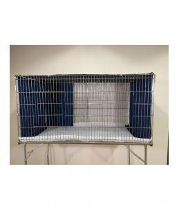 Parure de cage - Double - Bleu Chiffoné - avec protection avant