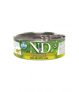 Farmina N&D Prime - Feline Adult Sanglier & Pomme - Boîte 80 g