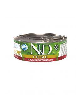 Farmina N&D Prime - Feline Adult Poulet & Grenade - Boîte 80 g