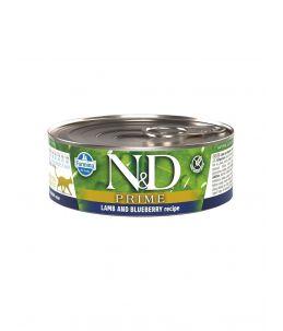 Farmina N&D Prime - Feline Adult Agneau & Myrtille - Boîte 80 g