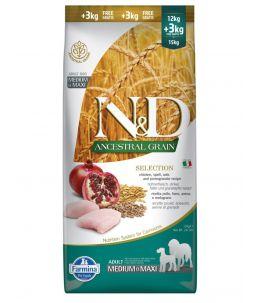 Farmina N&D Selection - Canine Adult Med/Max, poulet & grenade Selection - Sac 15 kg