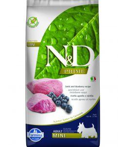 Farmina N&D Prime - Canine Adult Mini Agneau & Myrtille - Sac 7 kg