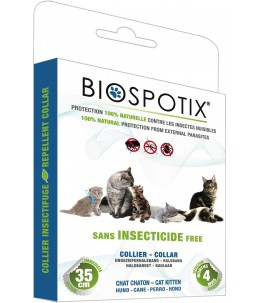 Biospotix - Collier insectifuge pour chat et chaton