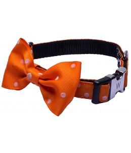Collier nylon nœud - Orange